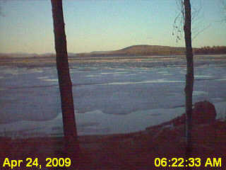 Almost ice out on Pemadumcook Lake