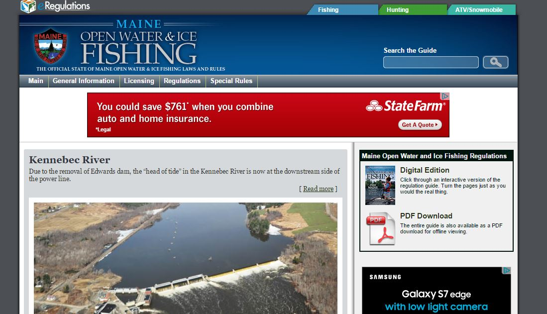 Topic 2016 fishing regulations maine fly fishing blog for Maine fishing laws